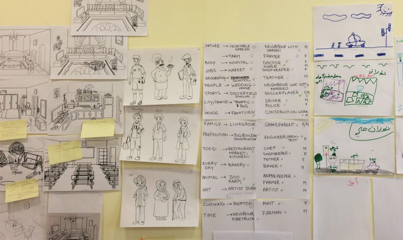 Co-creating game worlds with input from children and local creatives.